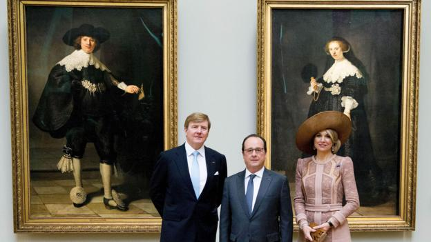Francois Hollande receives Dutch Royals, Elysee Palace, Paris, France - 10 Mar 2016